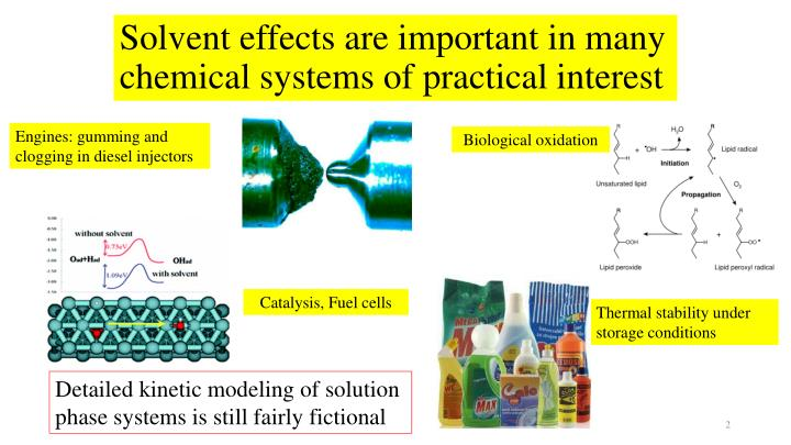 Solvent effects are important in many chemical systems of practical interest