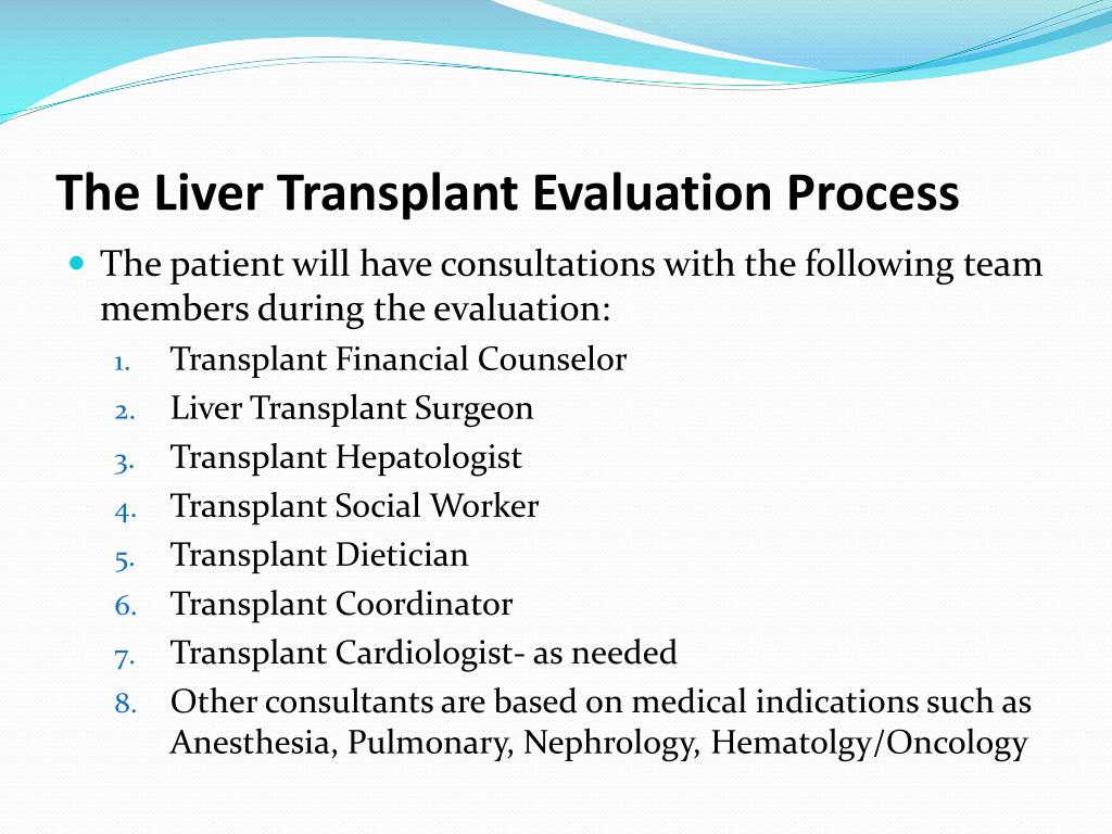 PPT - Liver Transplant Evaluation: The Process PowerPoint