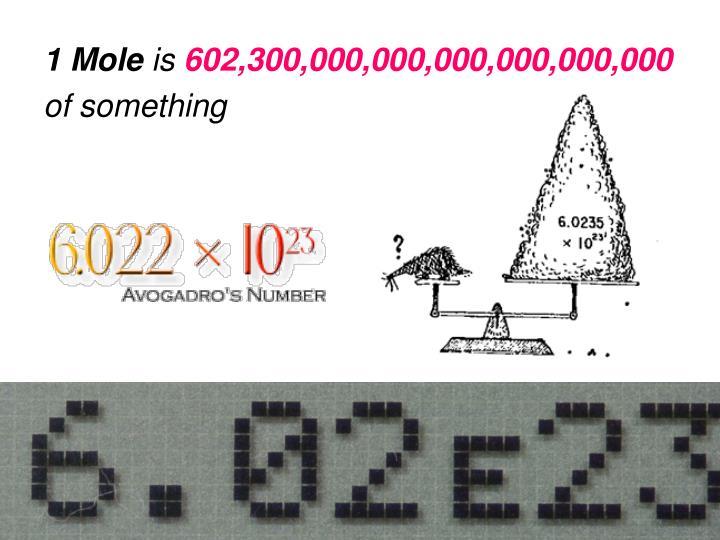 1 Mole