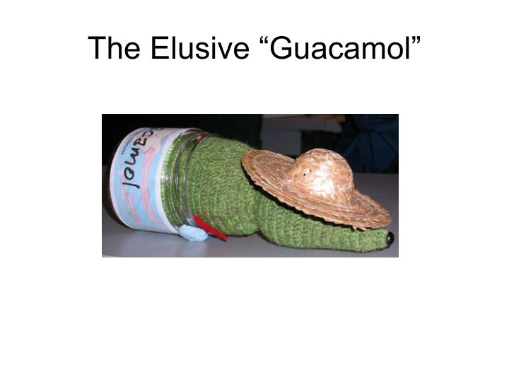 "The Elusive ""Guacamol"""