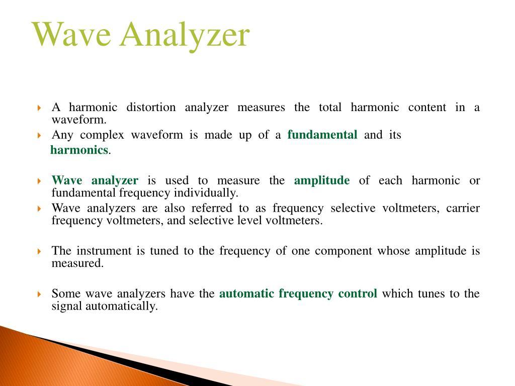 PPT - Harmonic Distortion Analyzer, Wave Analyzer and
