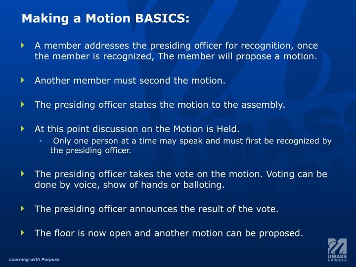 Making a Motion BASICS: