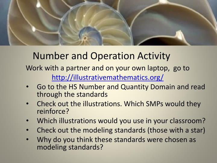 Number and Operation Activity