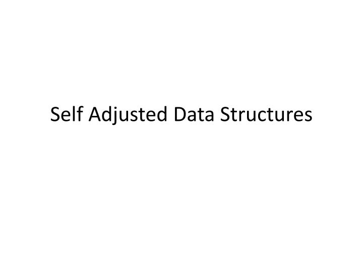 self adjusted data structures n.