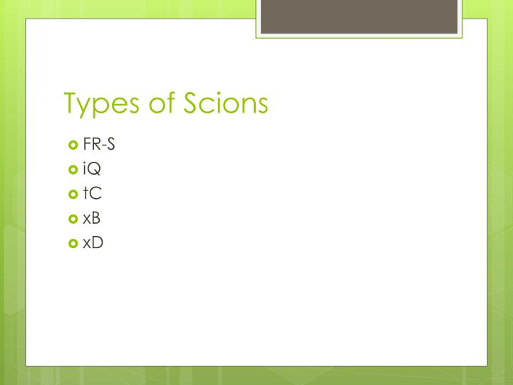 Types of scions