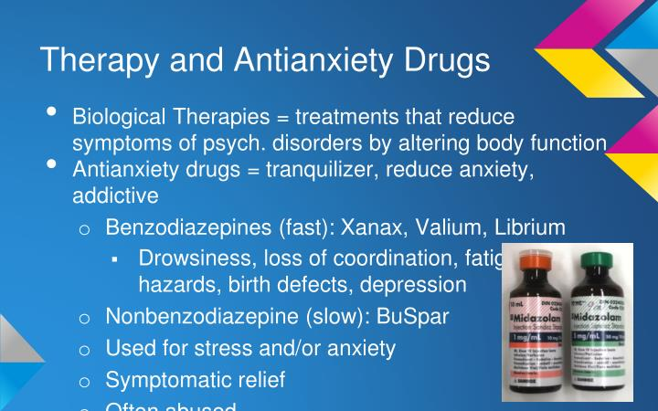 Therapy and Antianxiety Drugs