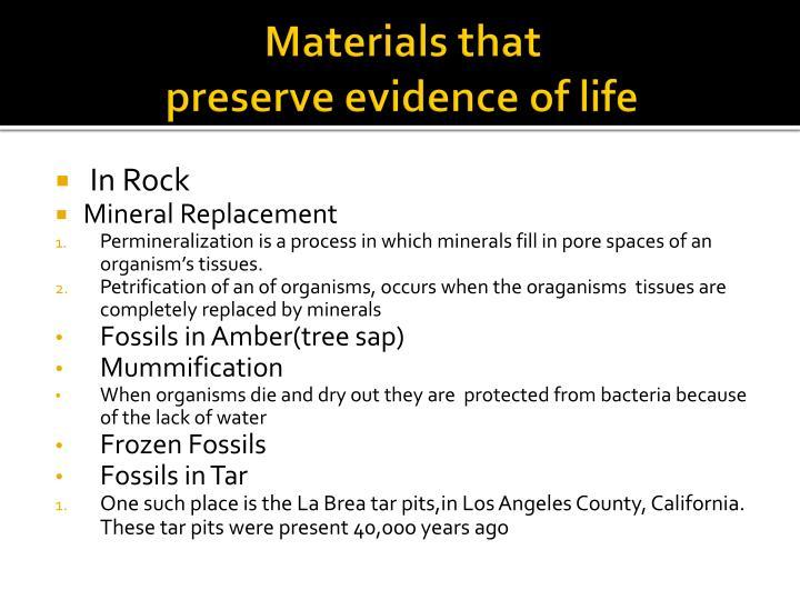 Materials that