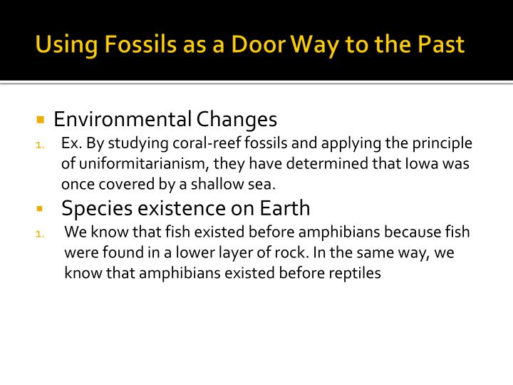 Using Fossils as a Door Way to the Past