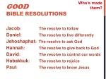 good bible resolutions5