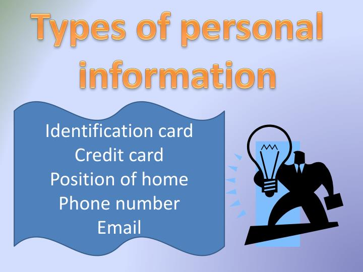 Types of personal information