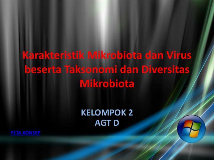 Karakteristik mikrobiota dan virus beserta taksonomi dan diversitas mikrobiota