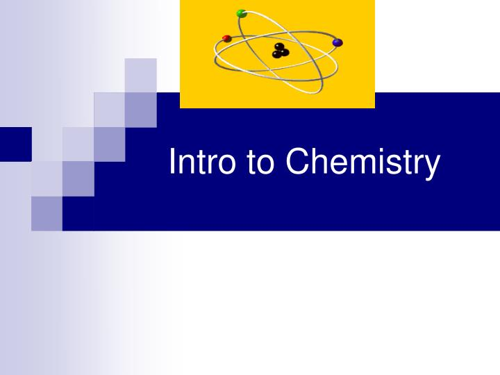 intro to chemistry n.