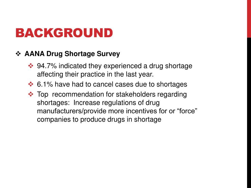 PPT - Drug Shortages PowerPoint Presentation - ID:2369125