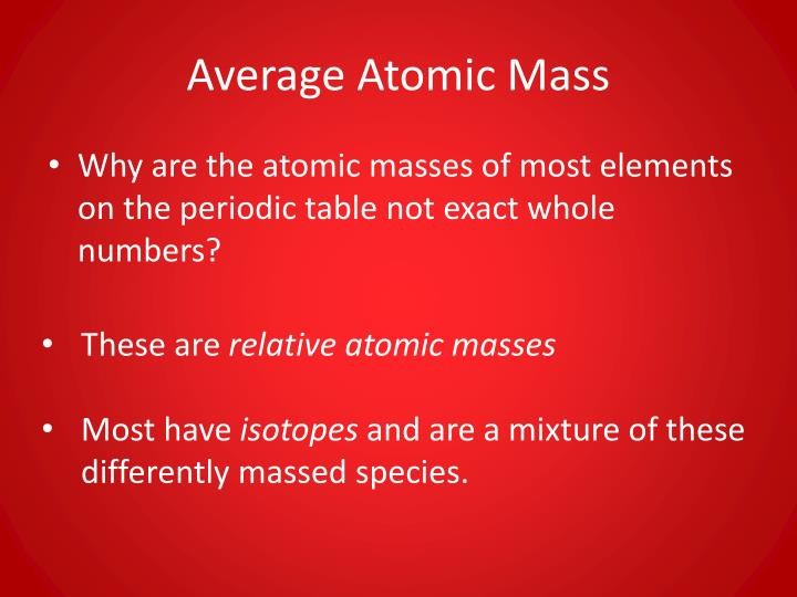 Ppt the mole and chemical composition powerpoint presentation id average atomic mass urtaz Choice Image