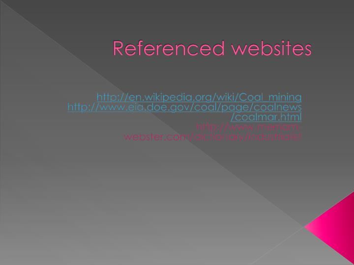 Referenced websites