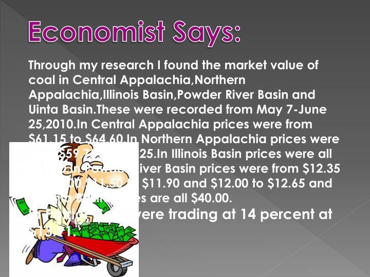Economist Says: