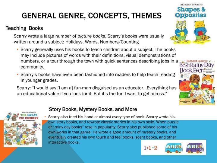 General Genre, concepts, themes