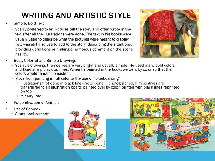 Writing and Artistic style