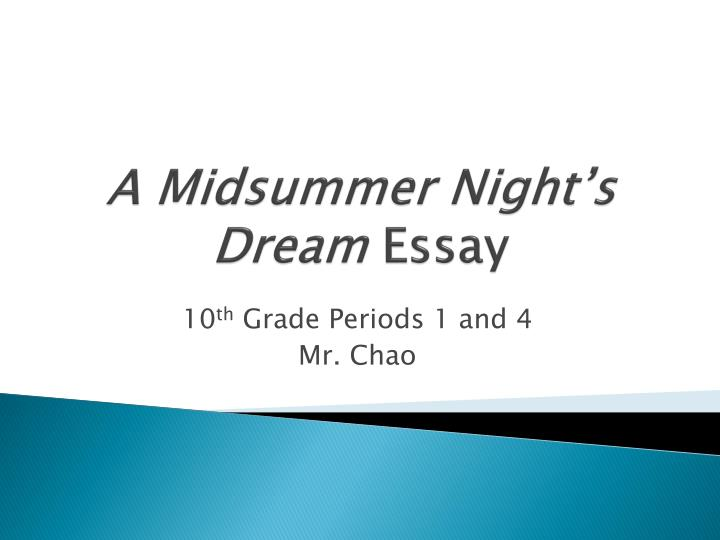 midsummer nights dream essay assignment Love, midsummer night's dream, shakespeare, relati - love in a midsummer night's dream.