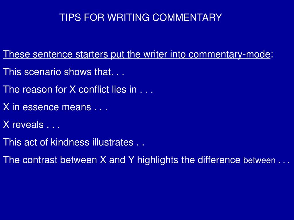 How to write a commentary sentence paper proofreading service usa