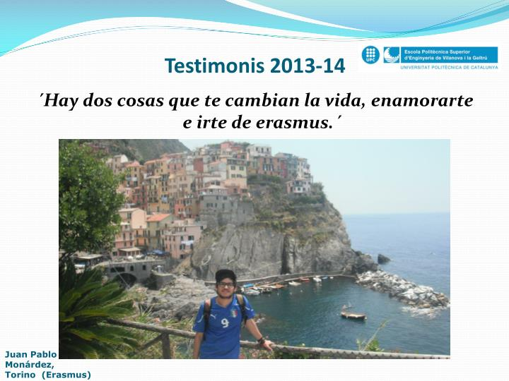 Testimonis