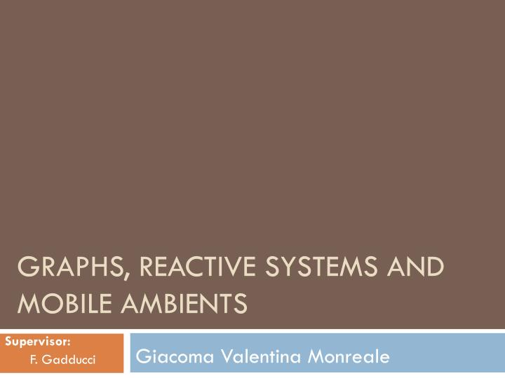 Graphs reactive systems and mobile ambients