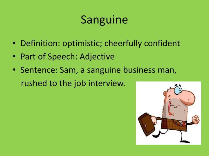 Images - Definition for sanguine