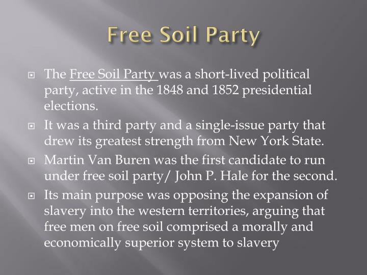 the free soil party