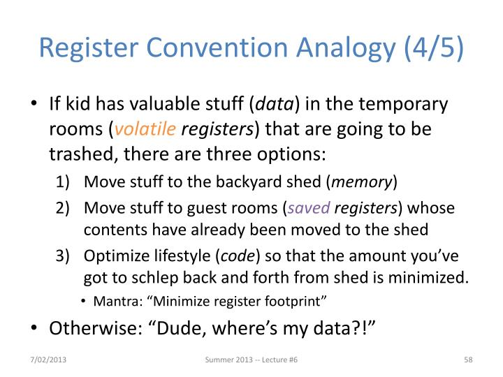Register Convention Analogy