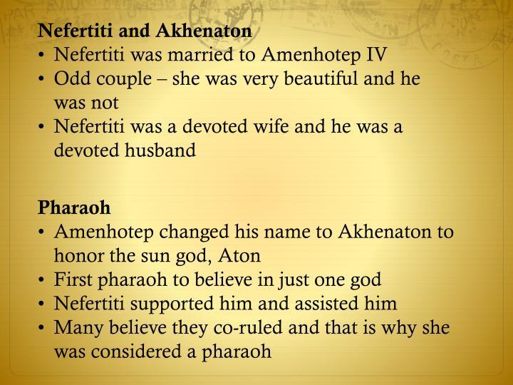 Nefertiti and Akhenaton