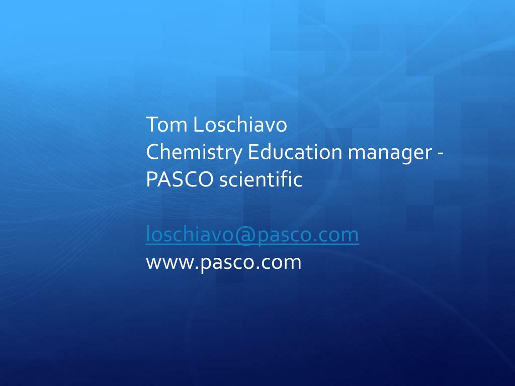 Ppt Pasco Scientific Solid State Spectroscopy With