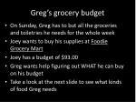 greg s grocery budget1
