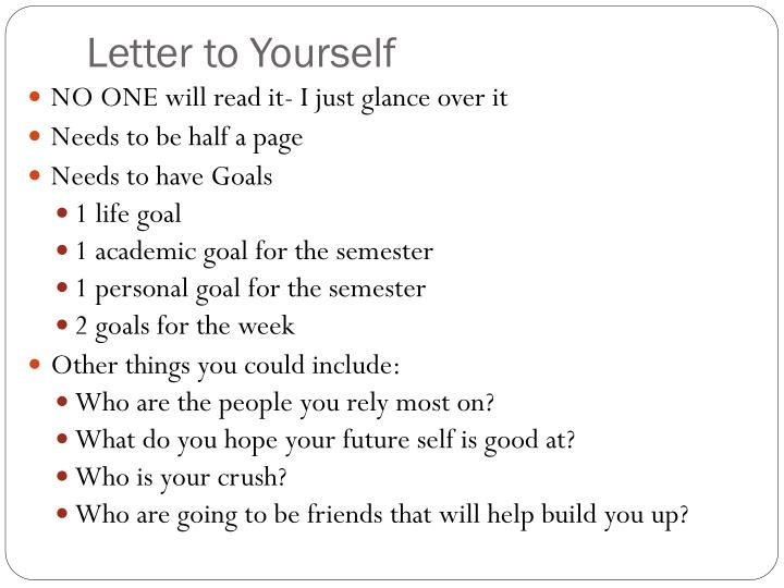 Letter to Yourself