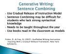 generative writing sentence combining4