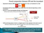 french cooperation between sfr and the incumbent