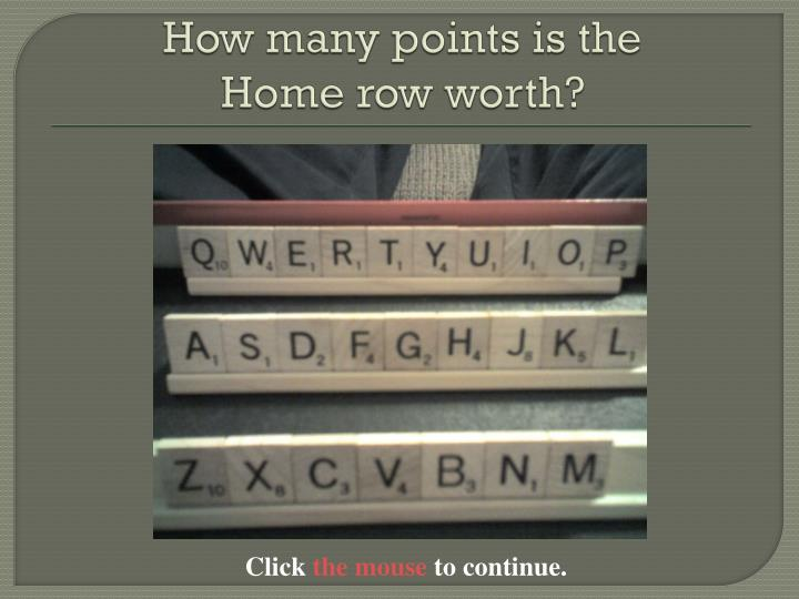 How many points is the