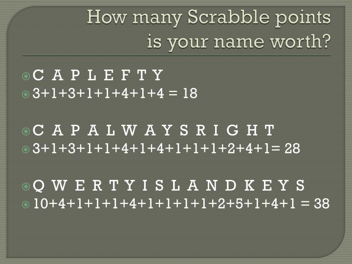 How many Scrabble points