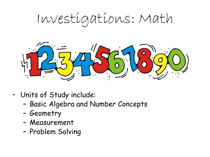 Investigations: Math