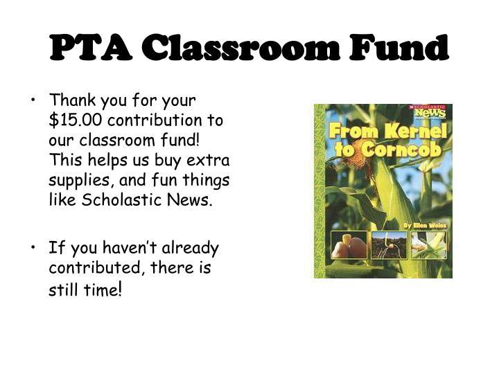 PTA Classroom Fund