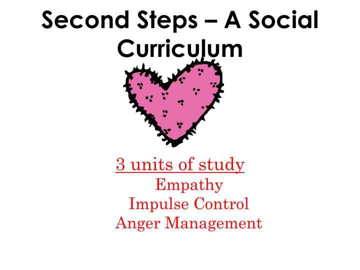 Second Steps – A Social Curriculum