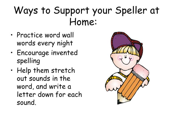 Ways to Support your Speller at Home: