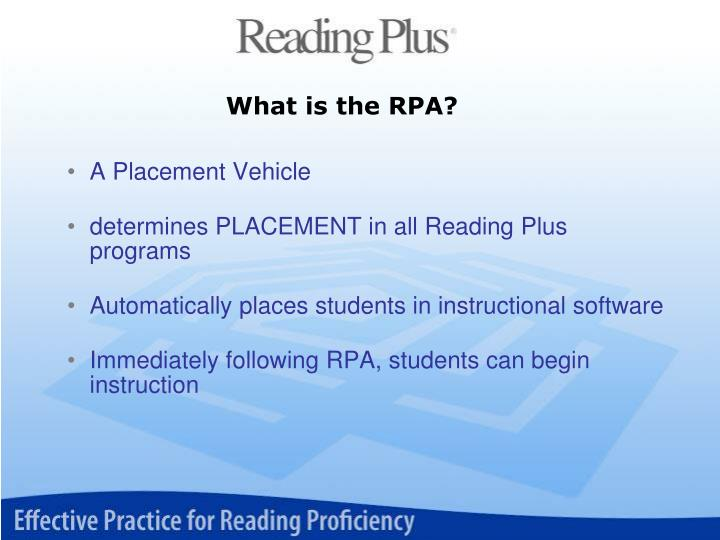 What is the RPA?