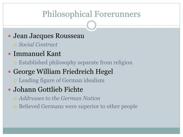 Philosophical Forerunners
