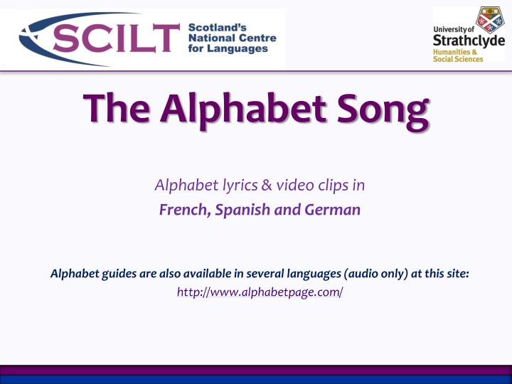 PPT - The Alphabet Song PowerPoint Presentation - ID:2370655