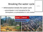 breaking the water cycle