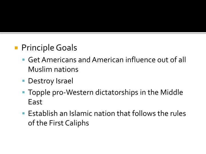Principle Goals