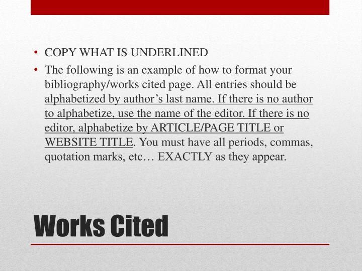 COPY WHAT IS UNDERLINED