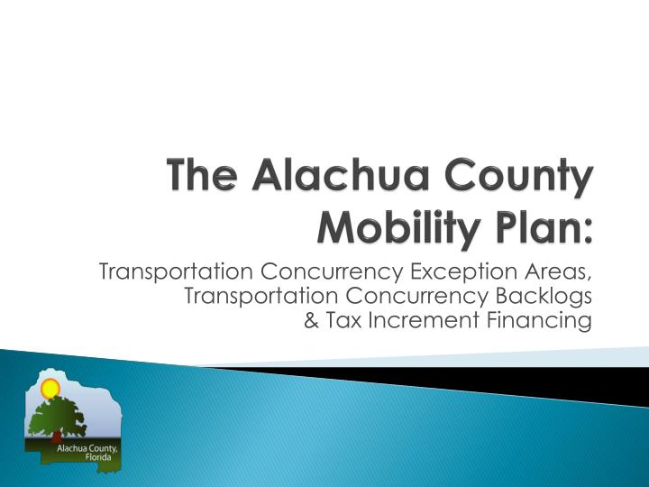 the alachua county mobility plan n.