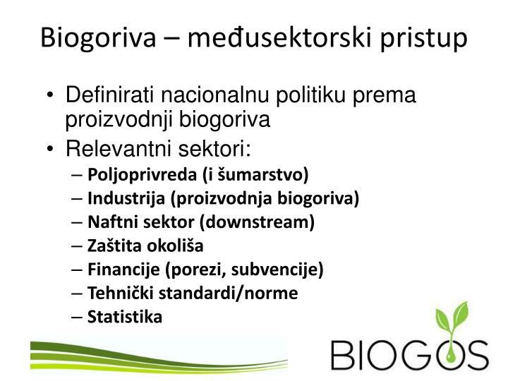 Biogoriva me usektorski pristup