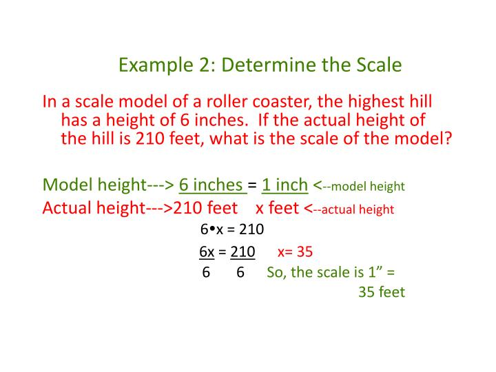 Example 2: Determine the Scale